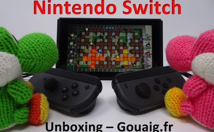 [Unboxing] Nintendo Switch – Un déballage haut en couleur !