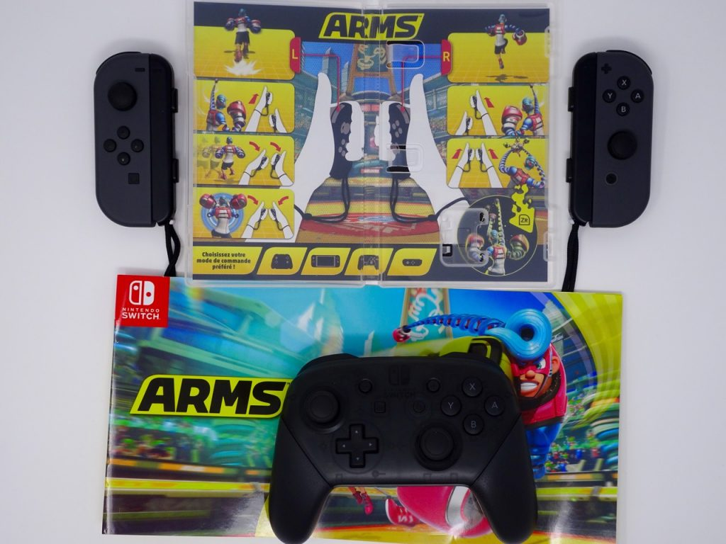 commandes switch arms switch avec manettes pro controller