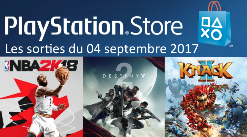 Playstation Store sorties du 4 septembre